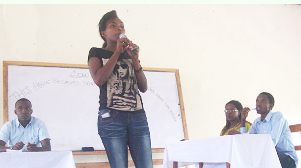 Debater Esther sometime in a competition