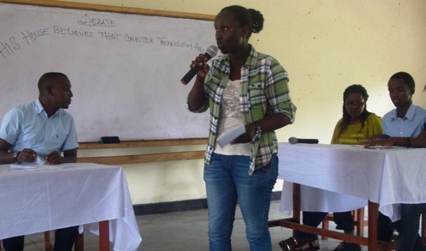 Debater Feza in one of the competitions she took part in