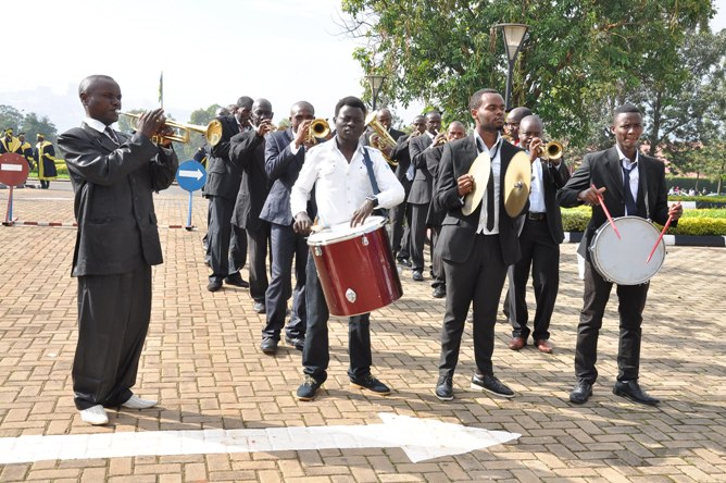 The Band started the academic procession ULK Kigali campus graduation