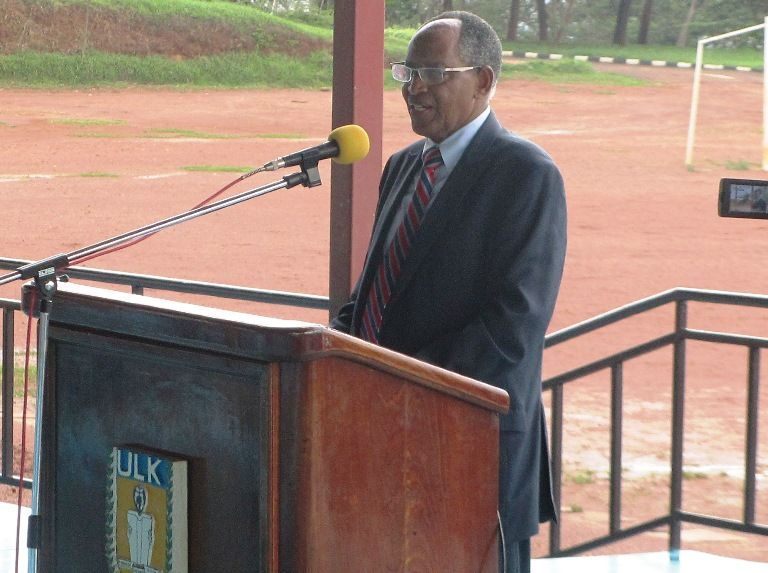 Prof. Dr RWIGAMBA Balinda during Induction Week 2016 at Kigali Campus
