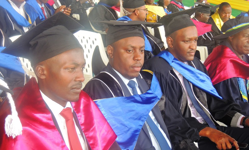 ULK 13th Graduation Ceremony Kigali Campus Daniel Balinda and Manzi Balinda