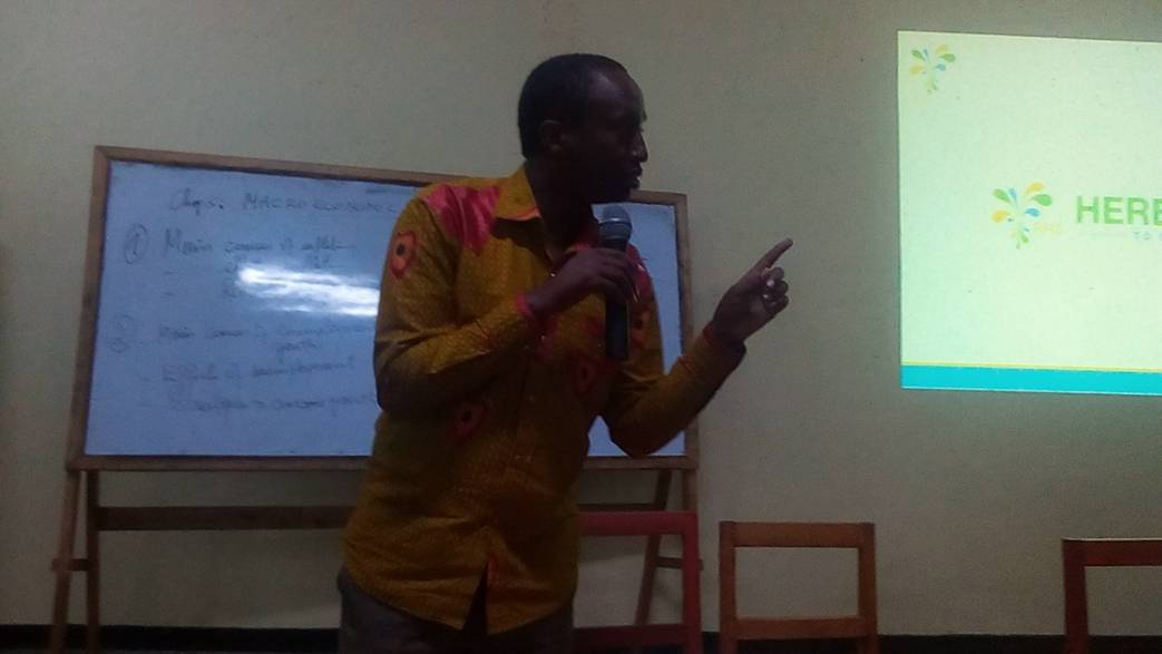Prof. Dr Cyeze Emmanuel during EBM Workshop at ULK Gisenyi Campus